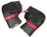 PU Leather Warm Covers Motorcycle Handlebar Muffs Snowmobile Waterproof Winter H