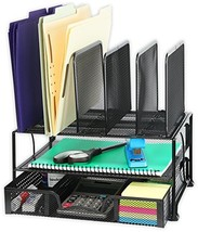 SimpleHouseware Mesh Desk Organizer with Sliding Drawer, Double Tray (Bl... - €30,44 EUR