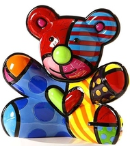 "Romero Britto Large 10"" high Hope Bear Money Bank Polyresin #331472  NEW"