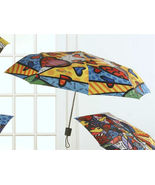 "Romero Britto Polyester Umbrella ""A New Day""  Compact - $28.75"