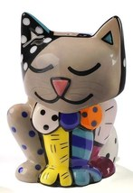 Romero Britto Salt & Pepper Shakers Cat NEW