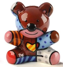 Romero Britto Salt & Pepper Shakers Teddy Bear NEW - $24.74