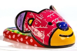 Romero Britto Slipper Mini Shoe Figurine Mini Shoe Collection with Shoe Box NEW