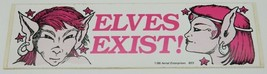 Elves Exist! Elf Images Vinyl Bumper Sticker NEW UNUSED - $2.99