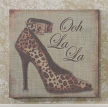 Stiletto Shoe Stretched Linen Print - 15.7 x 15.7 - 5 Designs image 2
