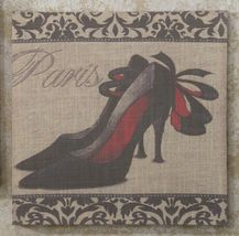 Stiletto Shoe Stretched Linen Print - 15.7 x 15.7 - 5 Designs image 3