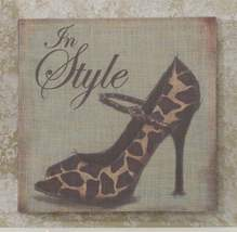 Stiletto Shoe Stretched Linen Print - 15.7 x 15.7 - 5 Designs image 4