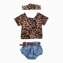 4PCS New Fashion Baby Girls Clothes Set 2017 Summer Backless Leopard T-s... - $14.15+