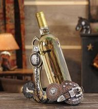 Western Saddle Design Wine Bottle Holder - Country NEW