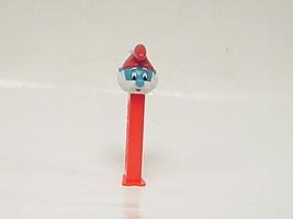 Vintage Papa Smurf Flat Footed Pez Dispenser U.S. Patent 4.966.305 - $18.80