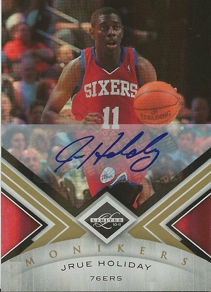 Jrue Holiday 2011 Panini Limited Autograph RC #75/99 76ers