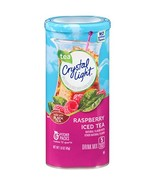 Crystal Light Raspberry Tea Drink Mix 72 Packets, 12 Canisters of 6 - $36.11