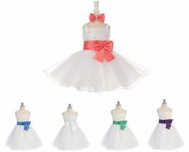 StylesILove Shanil Sparkling Rhinostone Taffeta Tulle Flower Girl Dress - $21.99