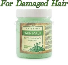 Hristina Hair Mask 200ml for Damaged Hair 100% NATURAL NETTLE BURDOCK & ... - $14.72