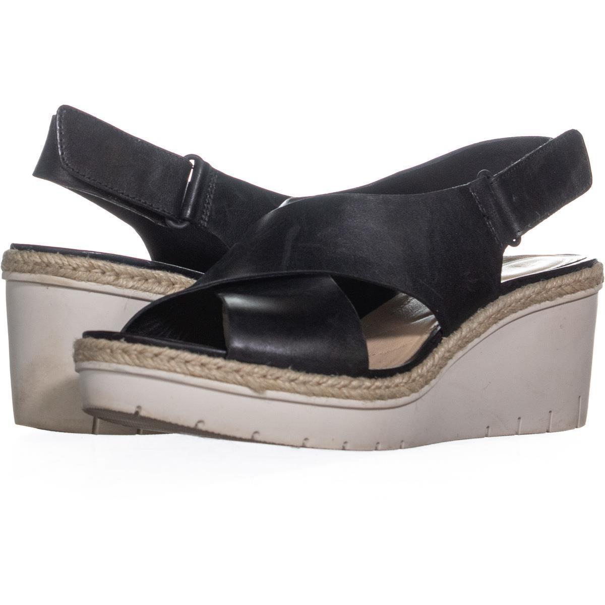 5e1f7a96fd2 Su 73902 clarks palm glow criss cross wedge sandals black leather 1
