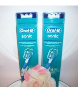 SALE !!! 2 x 4 Braun Oral-B Sonic Complete Replacement Brush Heads Tooth... - $42.99