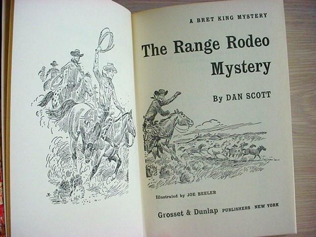 Bret King RANGE RODEO MYSTERY Dan Scott HC/Pic
