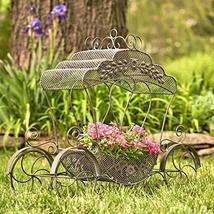Cinderella Carriage Plant Stand, Center Piece, Decoration (Curvy Roof, B... - $119.95