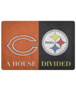 House Divided Man Cave NFL Football Welcome Mat Steelers Doormat - $29.87