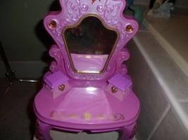 "Disney Musical Tangled *Royal Vanity Tolly Tots pink 16"" lights up,drawe... - $11.95"