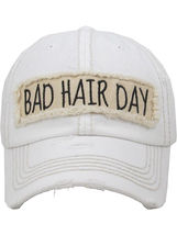 Distressed Vintage Style Bad Hair Day Hat Baseball Cap Runner Active Wear image 7