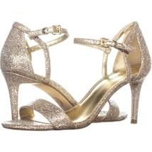 MICHAEL Michael Kors Simone Mid Sandal Ankle Strap Sandals 083, Silver/S... - $35.51
