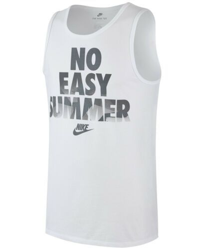 Large Men's NIKE Tank Top No Easy Summer Graphic Tee Shirt Sleeveless NEW