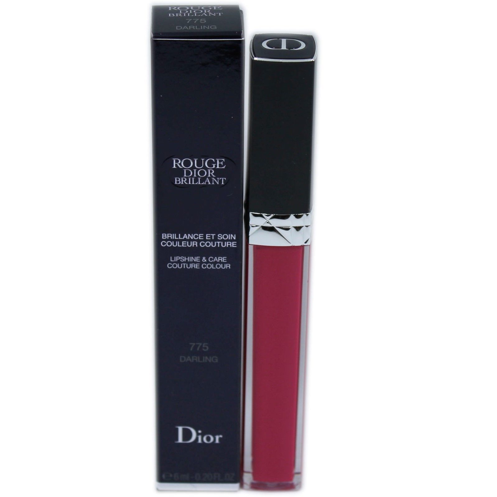 Primary image for ROUGE DIOR BRILLANT LIPSHINE & CARE COUTURE COLOUR 6ML #775 DARLING NIB