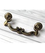 "4 1/4"" Dresser Pulls Drawer Pull Handles Antique Bronze Rustic Cabinet P... - $6.50"