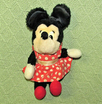 "VINTAGE APPLAUSE MINNIE MOUSE 7"" STUFFED ANIMAL DOLL RED POLKA DOT DRESS... - $23.38"