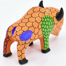 Handmade Alebrijes Oaxacan Wood Carved Painted Folk Art Buffalo Figurine image 4