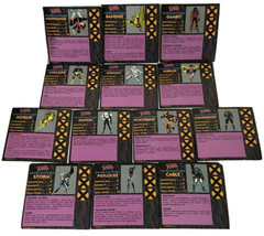 Game Parts Pieces Uncanny X-Men Alert Pressman 1992 Movers Power Stat Cards - $7.82