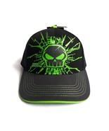 No Fear Baseball Cap Black Hat Skull Green Junior Size 100% Cotton 6 Pan... - $18.13