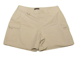 Womens Tan DOCKERS Casual Shorts 10 100% Cotton - $10.45