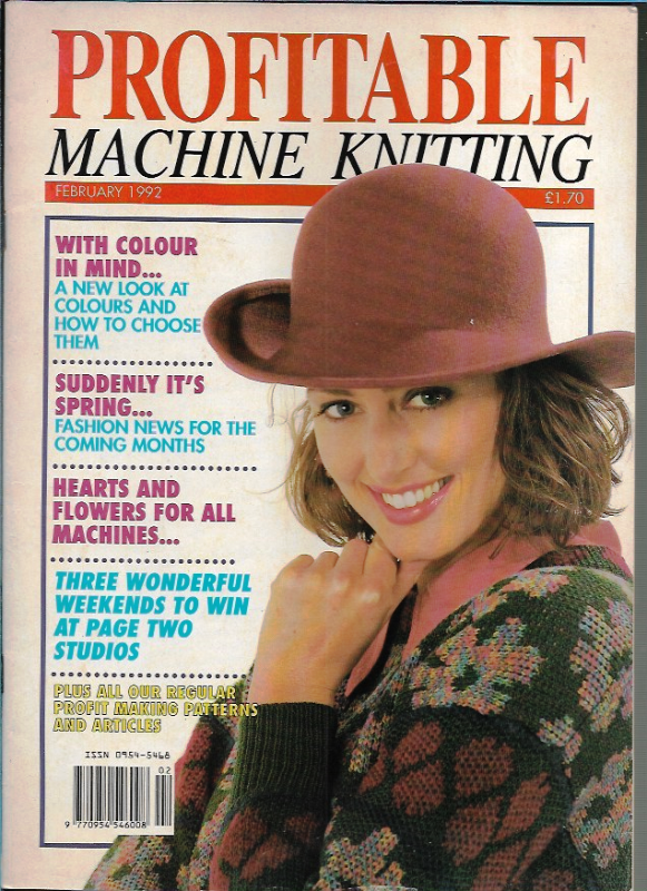 Profitable Machine Knitting Feb 1992 Magazine UK Patterns ...