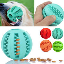 1pc Rubber Chew Ball Dog Toys Food Resistant Fetch Bite Dispensing Holde... - $8.94