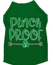 Pinch Proof Screen Print Dog Shirt Green Sm (10) - $11.98