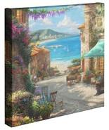 Thomas Kinkade Studios Italienisch Cafe 14 X 14 Leinen Gallerie Wickeln - $89.00