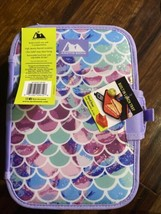 ARCTIC ZONE INSULATED LUNCH BOX  Pastel Scaled ZIPPERLESS LID BUILT IN L... - $13.74
