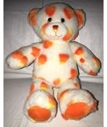 "Build A Bear Candy Corn Halloween Bear Plush BAB 16"" White Orange Yellow - $17.81"