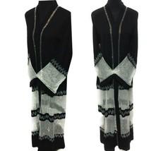 Women's Black Open Front Luxury Nida Chiffon Burka Jilbab - $55.91