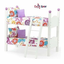 """Emily Rose 14 Inch Doll Furniture Bed