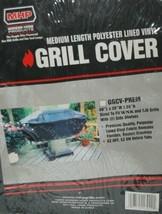 MHP GGCVPREM Medium Length Polyester Lined Vinyl Grill Cover Color Black image 2