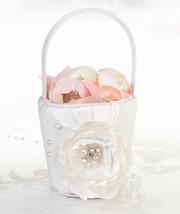 chic & shabby wedding flower girl basket cream color  - $16.98