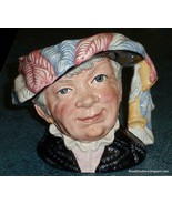 LARGE Pearly Queen Royal Doulton Toby Jug D6759 RARE COLLECTIBLE CHRISTM... - $154.23