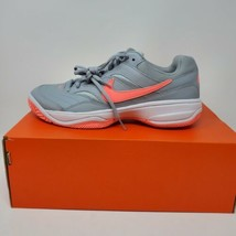 Nike Court Lite Gray / Pink 845048-002 Size 10 - $59.35