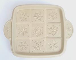 Snowflake Brown Bag Cookie Shortbread Ceramic Mold Pan Square Hill Desig... - $69.29