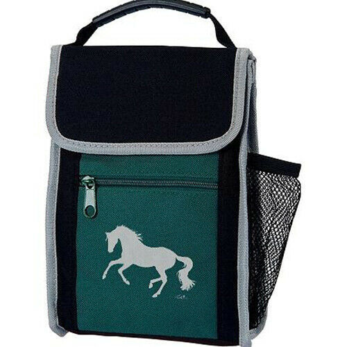 Insulated Lunch Sack - Green with running horse - NEW
