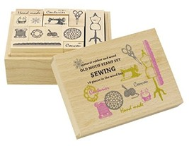 Contemporary department store Old motif stamp set Sewing K133-SO - $30.30
