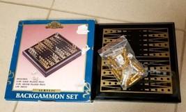Vintage Taiwan World Showcase Acrylic Backgammon Set Travel Small Atico ... - $19.39